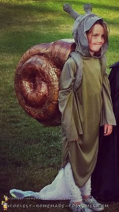 Coolest DIY Snail Halloween Costume With Slime Trail 56f5a3414