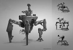 Gorilla Artfare » Blog Archive » Scrappy Coco - Robot Concept Art
