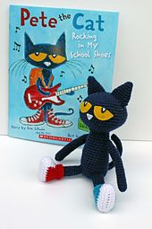 "Pete the Cat Amigurumi - Free English Pattern -PDF Format click ""download"""