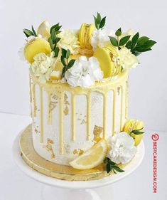 50 Lemon Cake Design (Cake Idea) - October 2019 Best Picture For Cake Design for brother For Your Taste You are looking for something, and it is going to tell you exactly what you are looking for, and Peanut Butter Birthday Cake, Lemon Birthday Cakes, Vanilla Birthday Cake Recipe, Lemon Wedding Cakes, Easy Birthday Cake Recipes, Yellow Birthday Cakes, Elegant Birthday Cakes, Pretty Birthday Cakes, Funny Birthday Cakes