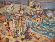 """Background information about the art product We democratize art. Choose your own art print of your favorite artpiece now. The work of art is a painting and was first created by Maurice Brazil Prendergast. The artwork was completed in the year and it is called """"Beach Scene and Hill"""".   Item specs          Print categorization: art reproduction   Reproduction method: digital reproduction   Production technique: UV direct printing (digital print)   Product Origin: manufactured in Germany   Stock t Barnes Foundation, A4 Poster, Poster Prints, Beach Scenes, Fine Art Prints, Canvas Prints, Canvas Paper, American Artists, Gloss Matte"""