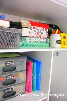 Etiquetas para gaveteiro do escritório