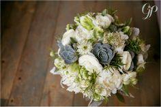 Lawren & Jason – Married! Niagara Wedding at Ravine Vineyard » Gemini Photography Ontario - Lush Florals #succulents #bouquet #green
