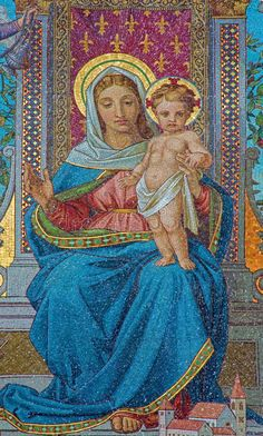 Photo about Vienna - Glass mosaic of Madonna from Schottenkirche by Michael Riese from years 1883 - 1889 on July 2013 Vienna. Image of mosaic, christianity, detail - 35763071 Divine Mother, Blessed Mother Mary, Blessed Virgin Mary, Religious Images, Religious Art, Hail Holy Queen, Images Of Mary, Queen Of Heaven, Mama Mary