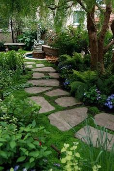 40 Diy Garden Ideas On A Budget 77 Small Backyard Landscaping Ideas On A Bud 21 Homevialand 8 Diy Garden, Shade Garden, Dream Garden, Moss Garden, Garden Edging, Garden Stones, Herb Garden, Garden Bed, Garden Planters