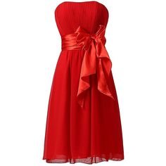 Ouman Sweetheart Bridesmaid Chiffon Prom Dresses Short Evening Gowns ($21) ❤ liked on Polyvore featuring dresses, gowns, chiffon bridesmaid dresses, red prom dresses, red dress, bridesmaid gown and short bridesmaid dresses
