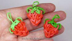 fraises en elastiques bricolage rainbow loom