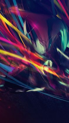 Colorful Line Art Dark Pattern #iPhone #5s #wallpaper