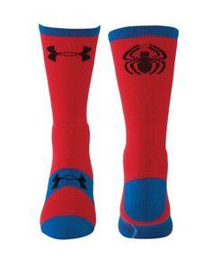 b4b1ed22ee0 Amazon.com: Under Armour Men's Alter Ego Spider-Man Crew Socks Medium Red:  Sports & Outdoors