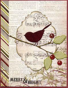 reed bird, twig & berries