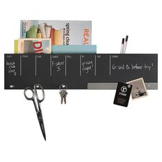 DIY inspiration-Wethersfield Chalkboard Wall Caddy