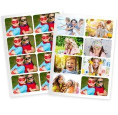 Faites un tirage photo de mini stickers personnalisés