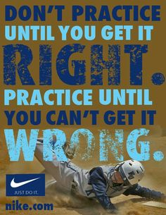 Yep yep. Coach Shelton used to say this in pee wee football. Still means so much in everything they do.