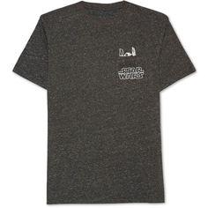Jem Men's Star Wars Graphic-Print Pocket T-Shirt (2.835 HUF) via Polyvore featuring men's fashion, men's clothing, men's shirts, men's t-shirts, black spec, mens pocket t shirts, mens graphic t shirts, mens t shirts, mens cotton t shirts and mens cotton shirts