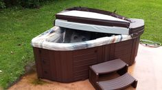 Here is a Master Spas Twilight Series 240 installed on a patio.