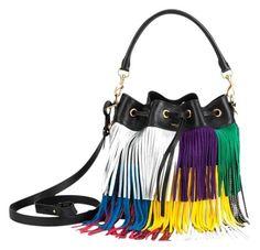 aff963049e5 Saint Laurent Small Emmanuelle Leather Fringed Bucket Shoulder Bag. Get one  of the hottest styles