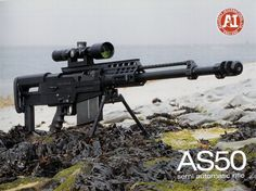 AS50 semi auto sniper rifle, for those days when you feel like taking them down one by one.