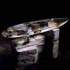 Glass Boat, Cast Glass, Kosta Boda, It Cast, Barn, Fused Glass, Converted Barn, Barns, Shed