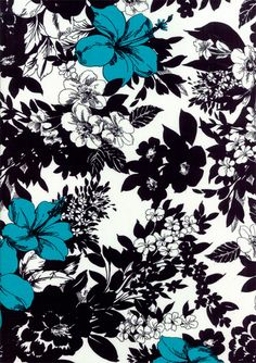 illustration, art, line drawing, black, white, blue, flower, pattern, design,
