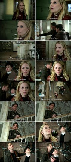 """Emma, David, Mary Margaret and Hook - 4 * 22 """"Operation Mongoose Part 2"""" #CaptainSwan #Snowing"""