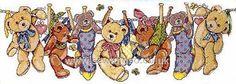 Buy+On+The+Line+Teddies+Cross+Stitch+Kit+Online+at+www.sewandso.co.uk