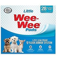 Four Paws Products Wee-Wee Housebreaking Pads for Little Dogs - 28 Pack - Cat store galore Dog Pee Pads, Puppy Pads, Little Puppies, Little Dogs, House Breaking Dogs, Dog Training Pads, Potty Training, Dog Potty, Cat Store