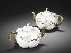 """Pair of """"melon"""" teapots believed to come from 18th century China"""