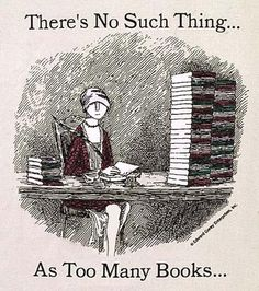 There's no such thing... as too many books!