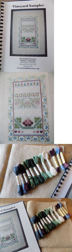 Cross Stitch Patterns 34032: Vineyard Sampler By Periwinkle Promises W Linen And Soie D Alger Floss -> BUY IT NOW ONLY: $49.95 on eBay!