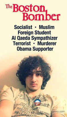 The Boston Bomber, famous for hiding in a boat in someone's backyard on a trailer after running over his brother, Speed Bump. After they set the bombs off at the Boston Marathon. And Boston wants the Olympics? NFW. Dzhokhar T? In prison until Obama pardons him on his way out the W.H. door out of spite. Same as Gitmo.