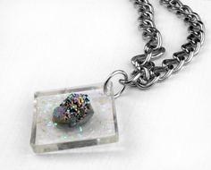 D R U Z Y & resin necklace by Blydesign on Etsy, $117.00