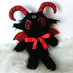 Baphomet Plush – Satanic Goat – Satanism – Witchcraft – Goth – Horror Plushie – Creepy Cute Toys – Halloween Toy – Best Baby And Baby Toys Baphomet, Faux Fur Material, Halloween Toys, Halloween Horror, Red Felt, All Toys, Creepy Cute, Cute Toys, Cute Stuffed Animals