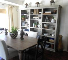 The French Cottage: The Dining Room Bookcases