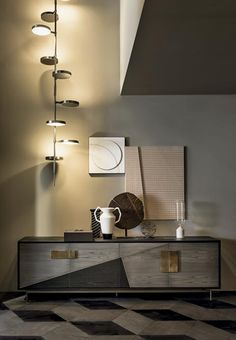 Shakedesign_Lamps_Weve ceiling lamp in burnished brass Modern Traditional Decor, Contemporary Decor, Cabinet Furniture, Furniture Design, Interior Stylist, Interior Design, Modern Interior, All Modern, Interior Inspiration