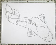 Pre Cut Stained Glass Koi Fish Pattern | eBay