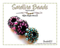 Right Angle Weave Beaded  Beads  Beading Pattern by Studio183, $3.00