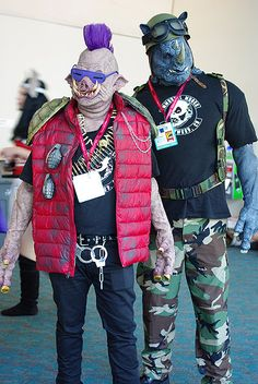 Rocksteady & Bebop San Diego Comic-Con 2014 Cosplay