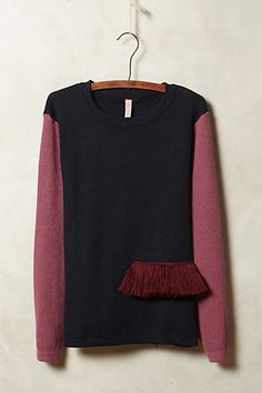 Fringed Colorblock Pullover - anthropologie.com