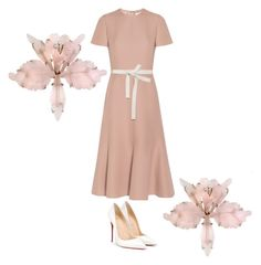 """""""Untitled #230"""" by eloismbemba on Polyvore featuring Valentino, Marni and Christian Louboutin"""