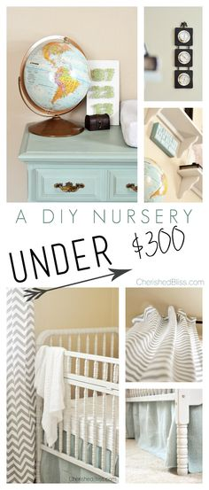 A DIY Nursery on a budget! This room was under $300 in expenses!!! [ HGNJShoppingMall.com ] #nursery