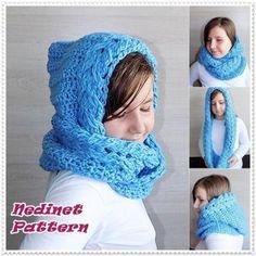 Crochet Pattern, Infinity scarf pattern