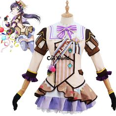 Love Live School Idol Project Nozomi Tojo Ice Cream Dress Uniform Outfit Anime Cosplay Costumes #SchoolOutfits