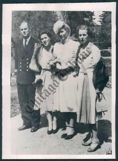 Prince Philip with his sisters before his marriage.