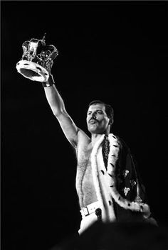 Freddie Mercury - Easily one of the greatest rock voices of all time. -- Portrait - Music - Queen - Black and White Photography