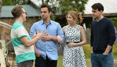 Jake Johnson, Anna Kendrick, and Ron Livingston in DRINKING BUDDIES on demand 07/25 and in theatres 08/23