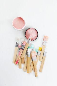 paint swatches in pretty pastel colors Paint Swatches, Color Swatches, Neutral Colour Palette, Color Palettes, Art Studios, Colorful Interiors, Color Inspiration, Paint Colors, Color Schemes