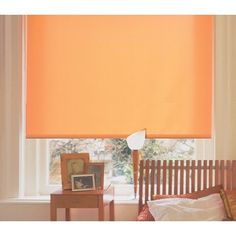 Tones of oranges are very creative colours, making this delightful roller blind a very acceptable window treatment for all kinds of interior situations. Windows are sometimes one of the largest surface areas in a room and can therefore make the greatest visual impact. From £32. Online at  http://www.polesandblinds.com/acacia-clementine-roller-blind/ #interiordesign #rollerblinds #orangeinteriors