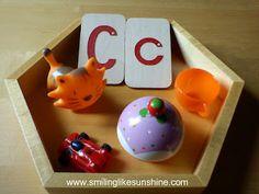 DIY Alphabet Boxes #Montessori #ece