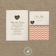 Simple Wedding Invitation (DIY Printables) on Etsy, $20.00