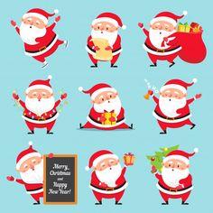 Buy Cartoon Santa Claus by tartila on GraphicRiver. Simple Christmas Cards, Christmas Card Crafts, Christmas Themes, Christmas Holidays, Vector Christmas, Xmas, Santa Claus Vector, Christmas Characters, Christmas Illustration
